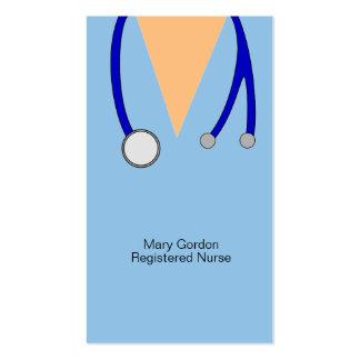 Caprichoso friega y enfermera registradoa del tarjetas de visita