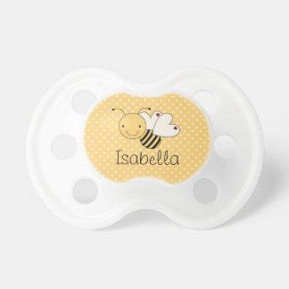 Caprichoso manosee la abeja personalizada chupete de bebé