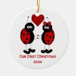 Caprichoso nuestro primer ornamento del navidad ornamento de navidad