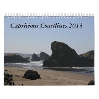 Capricious Coastlines 2013 Wall Calendars