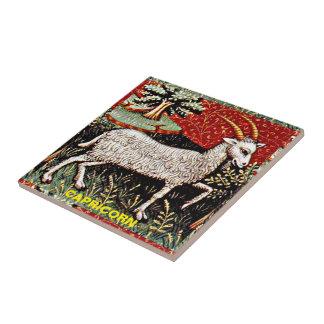 Capricorn 15th Century Art Ceramic Tile