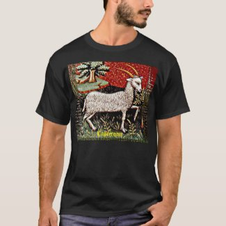 Capricorn 15th Century Art Dark T-Shirt