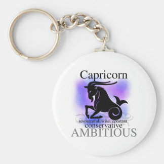Capricorn About You Basic Round Button Keychain
