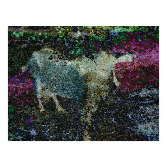 Capricorn Abstract Postcard