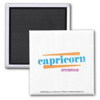 Capricorn Aqua 2 Inch Square Magnet