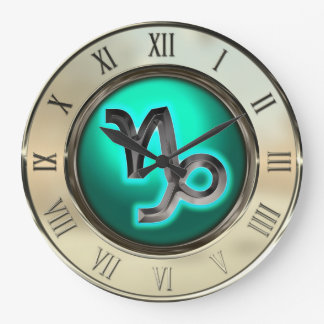 Capricorn Astrological Sign Large Clock