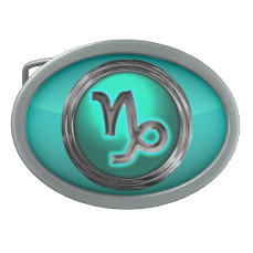 Capricorn Astrological Sign Oval Belt Buckle