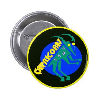 Capricorn Badge Button
