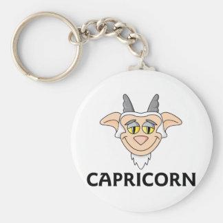 Capricorn Basic Round Button Keychain