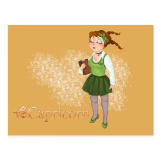 Capricorn - Beauty Zodiac horoscope Postcard