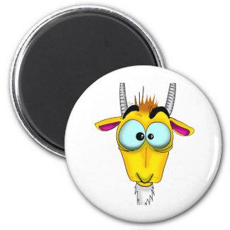 Capricorn Cartoon 2 Inch Round Magnet