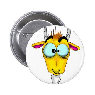 Capricorn Cartoon Pinback Button