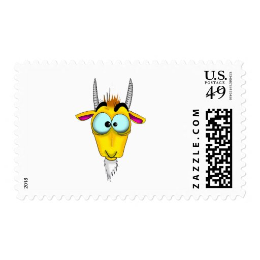 Capricorn Cartoon Stamp