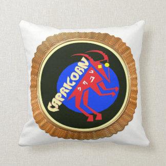 Capricorn Cartoon Zodiac Astrology design Throw Pillow