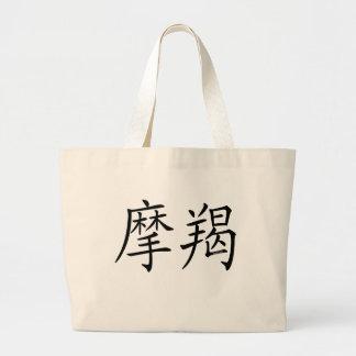 Capricorn Chinese Symbol Canvas Bag