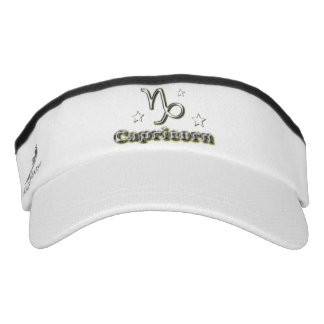 Capricorn chrome symbol visor