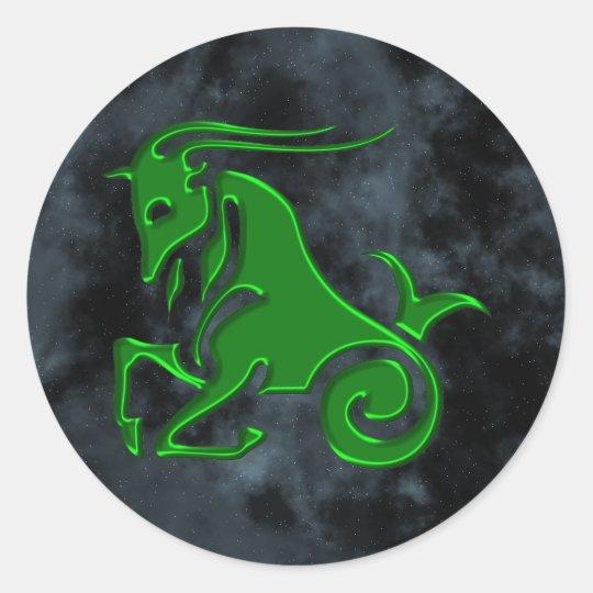 Capricorn Classic Round Sticker