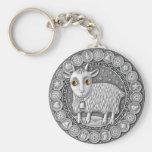 Capricorn Coin basic button key chain