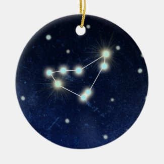 Capricorn Constellation | Custom Name Ceramic Ornament