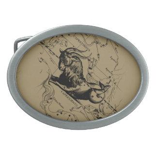 Capricorn Constellation Hevelius 1690 Dec22-Jan19 Belt Buckle