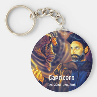 Capricorn Dec 22 - Jan 20 Basic Round Button Keychain