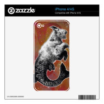 Capricorn Decals For iPhone 4