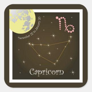 Capricorn December 22 to de January de 20 Pegatina Cuadrada