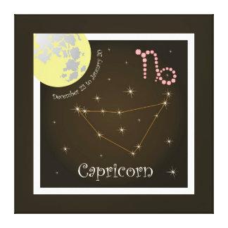 Capricorn December 22 tons of January 20 canvas Canvas Print
