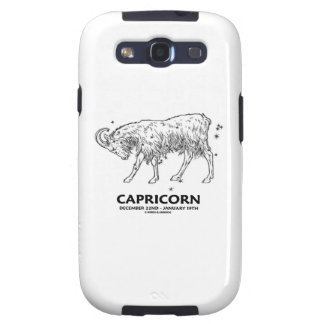 Capricorn (December 22nd - January 19th) Galaxy S3 Covers