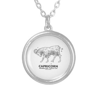 Capricorn (December 22nd - January 19th) Round Pendant Necklace