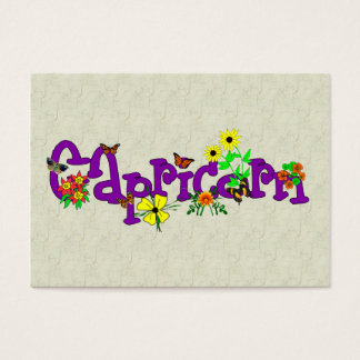 Capricorn Flowers Business Card