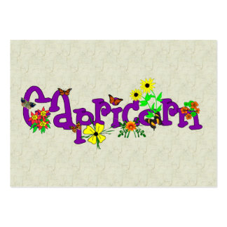 Capricorn Flowers Business Cards