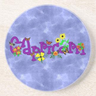 Capricorn Flowers Coaster