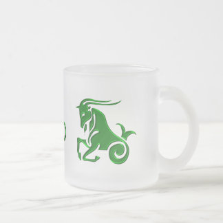 Capricorn Frosted Glass Coffee Mug