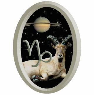 Capricorn Goat Saturn Acrylic Keychain
