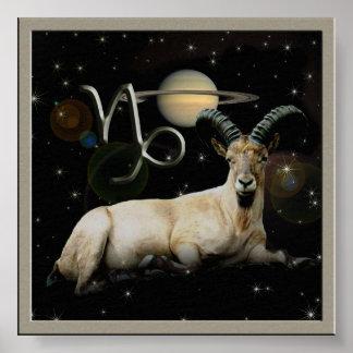 Capricorn Goat Saturn Print
