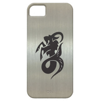 Capricorn Goat Silhouette with Metallic Effect iPhone SE/5/5s Case