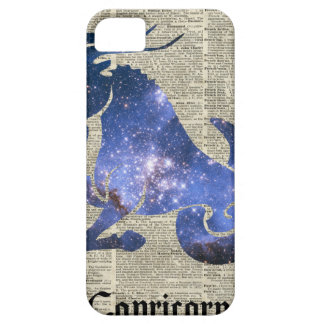 Capricorn Goat Zodiac Sign over old book page iPhone SE/5/5s Case
