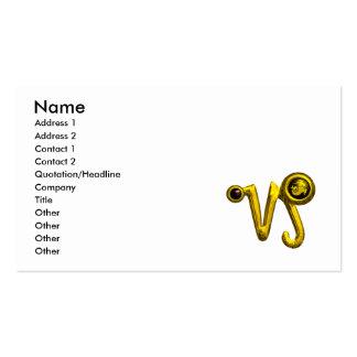 CAPRICORN GOLD ZODIAC SIGN JEWEL BUSINESS CARD TEMPLATE