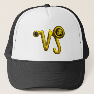 CAPRICORN GOLD ZODIAC SIGN JEWEL TRUCKER HAT