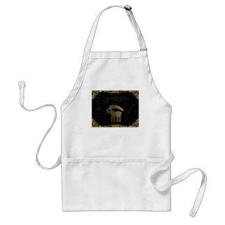 Capricorn golden sign adult apron
