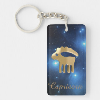 Capricorn golden sign keychain