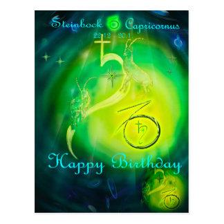 Capricorn Happy Birthday Postcard
