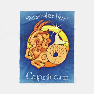 Capricorn Horoscope Design Fleece Blanket