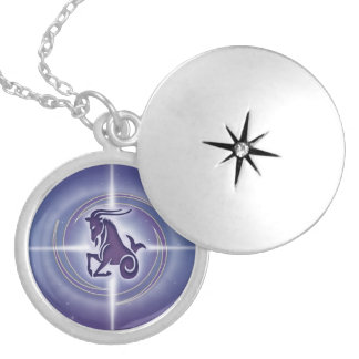 Capricorn Horoscope Lavender HLRX Locket Necklace