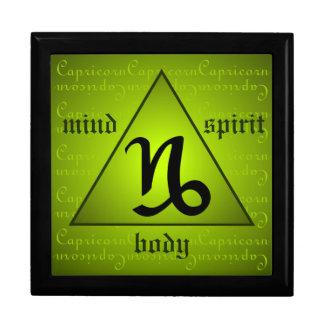 Capricorn Horoscope Mind Body Spirit Triangle Keepsake Boxes
