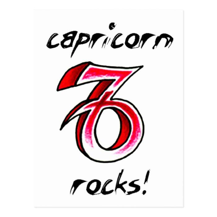 Capricorn Horoscope Sign design! Postcard