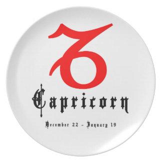 Capricorn, Horoscope, zodiac, astrology Dinner Plate
