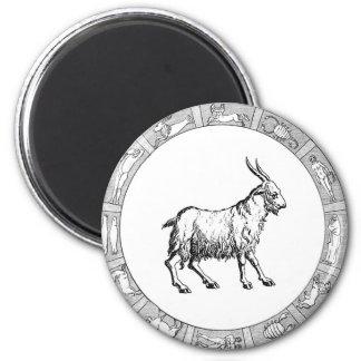 Capricorn in a Zodiac Ring 2 Inch Round Magnet