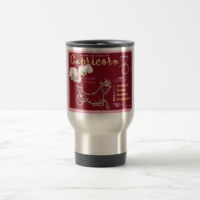 Capricorn January Travel Mug